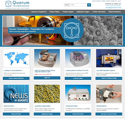 Website Design for Quorum Technologies