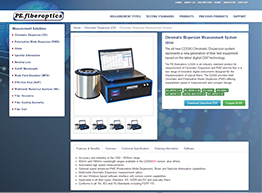 Website Design for PE Fiberoptics