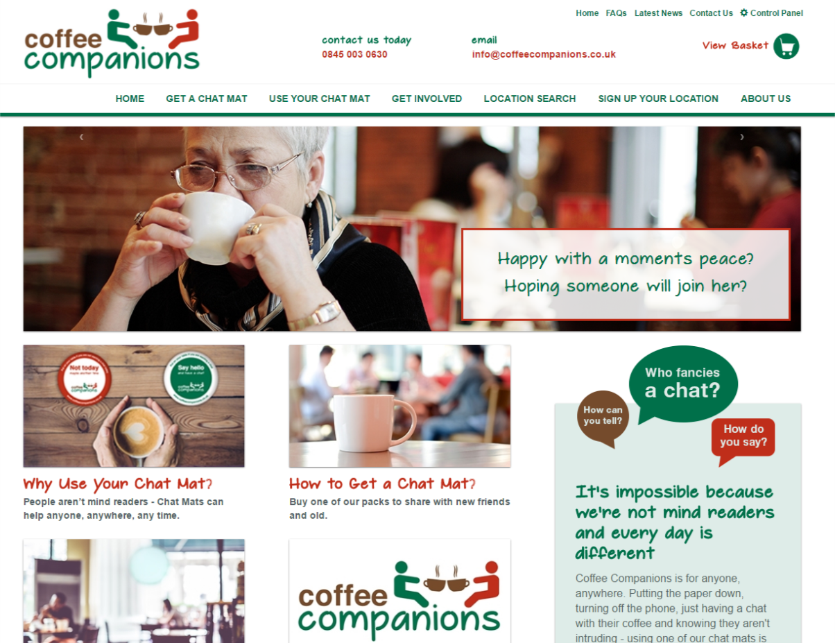 Website Design for Coffee Companions