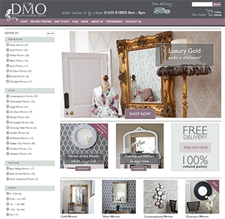 Ecommerce Website Design for Decorative Mirrors Online