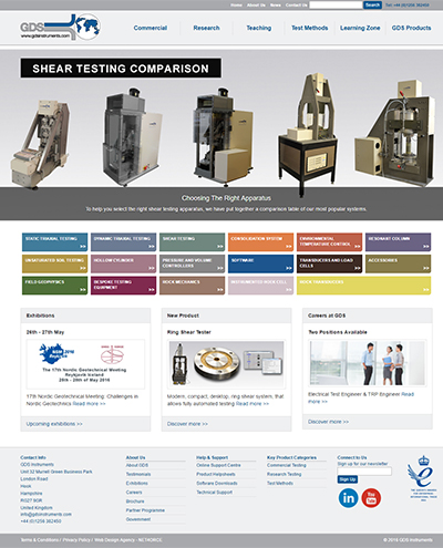 Website Design for GDS Instruments
